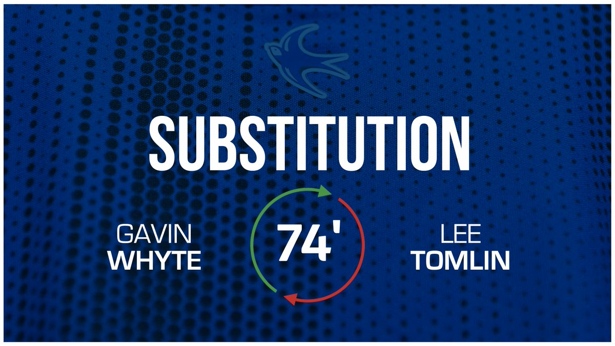 74 - First #CardiffCity change: @gavinwhyte8 replaces @Leetomlin10. (0-1) #CityAsOne