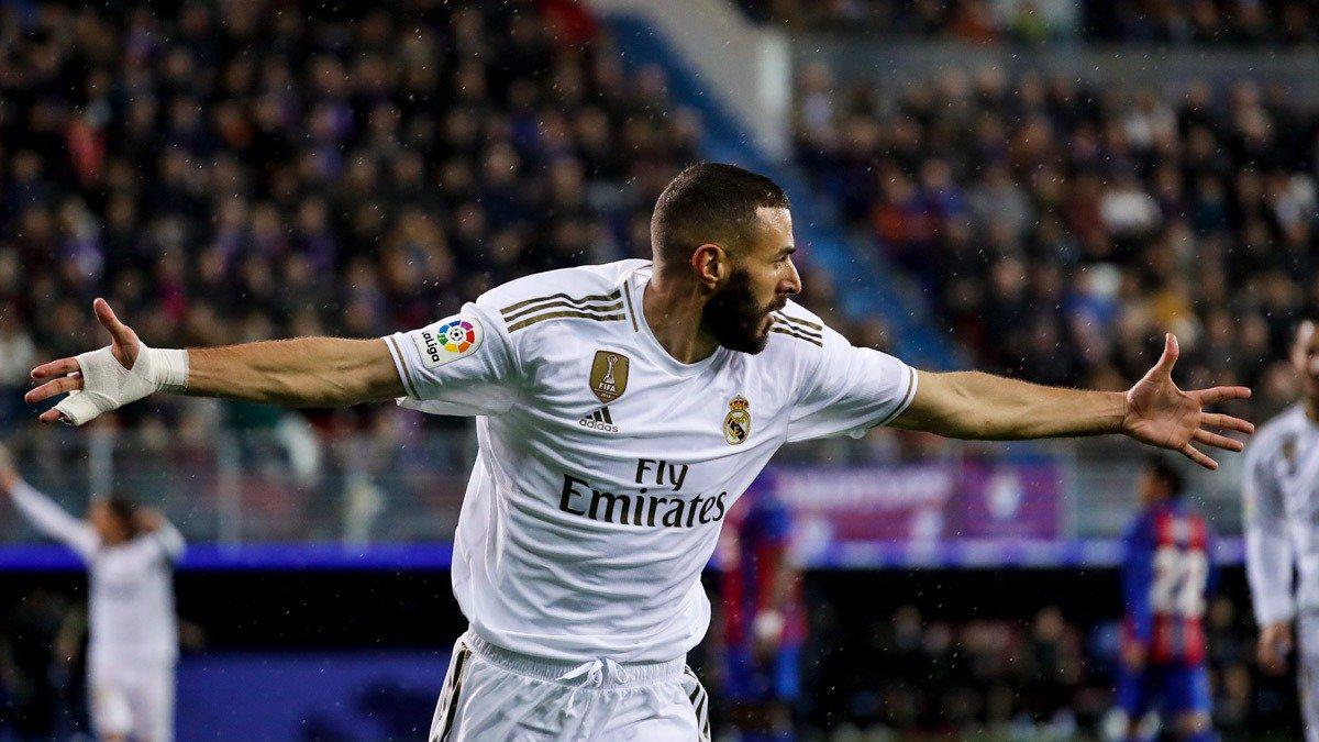 ⚽🇫🇷💪 ¡Con 157 goles, @Benzema se convierte en nuestro 6º máximo goleador en LaLiga! #RMLiga | #HalaMadrid