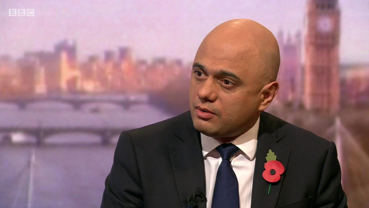Sajid Javid miscounts Labours spending proposals & tallies them up to around £1.2trillion. Ironically, thats less than his Party have borrowed in 9 years & what do they have to show for it? 14million in poverty & underfunded public services. #Marr