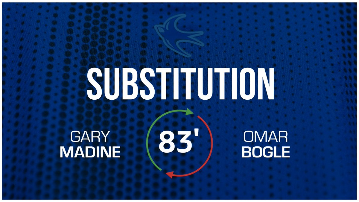 83 - Second #CardiffCity change: Gary Madine replaces @OmarBogle9. (0-1) #CityAsOne