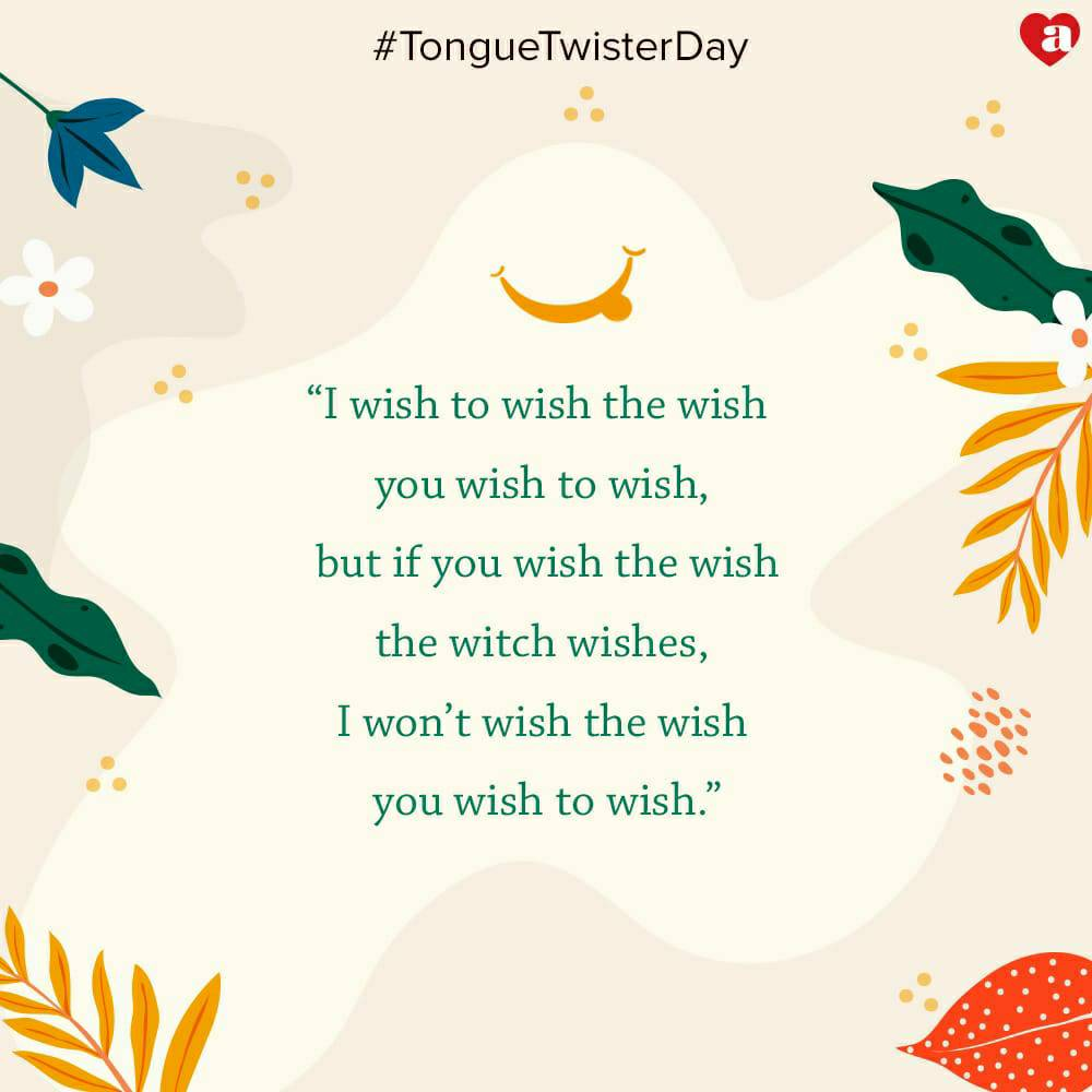 That s how you tell a tale with twist. Happy Tongue Twister Day. ArchiesOnline TongueTwister TryIt https t