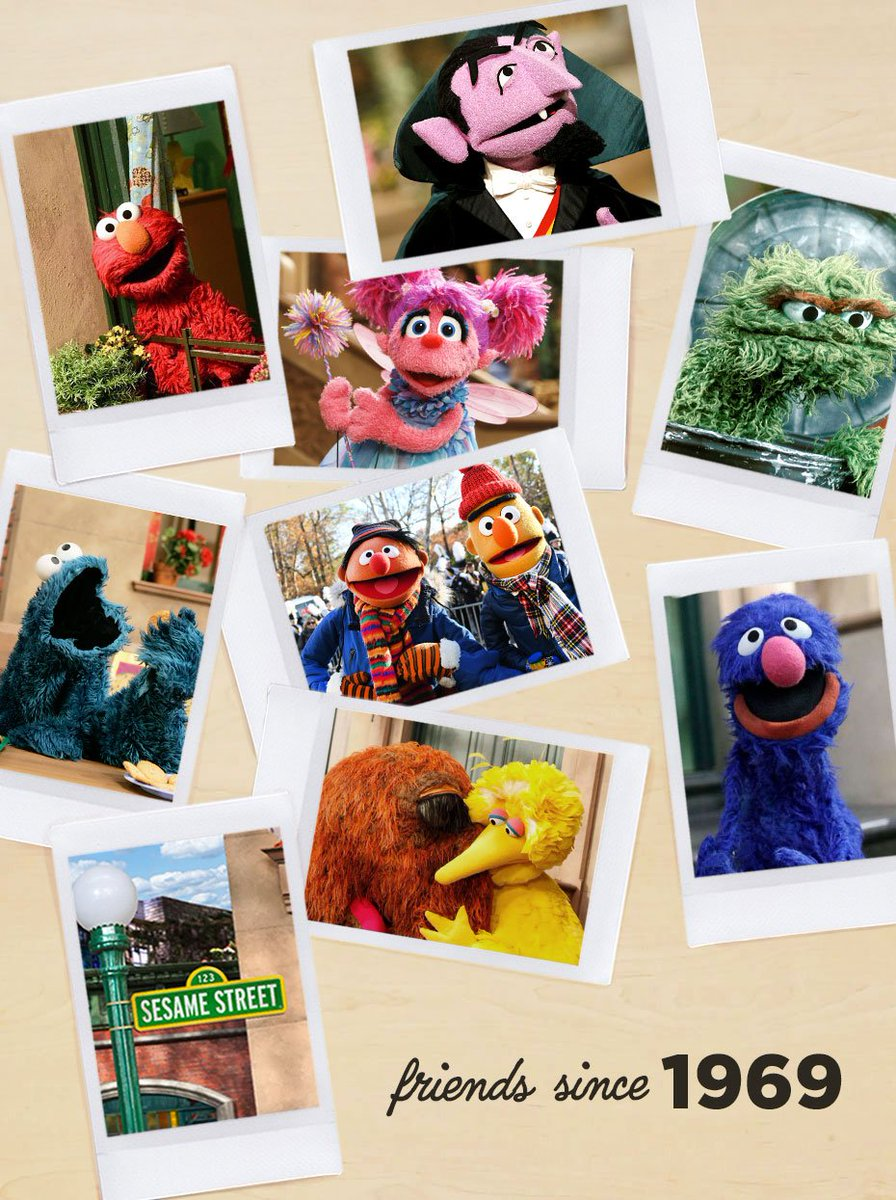 Today marks 50 years of fun, laughter, love, and furry hugs. Here's to 50 more years with our friends on Sesame Street. #Sesame50