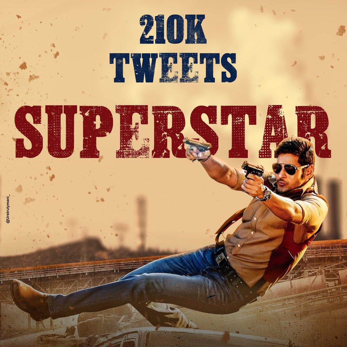 #210K Tweets In 24Hrs   Well Done Superstar Fans   #SarileruNeekevvaru #SSMBReignBeginsSOON  #MaSSMB @urstrulyMahesh<br>http://pic.twitter.com/7loAPurS8G