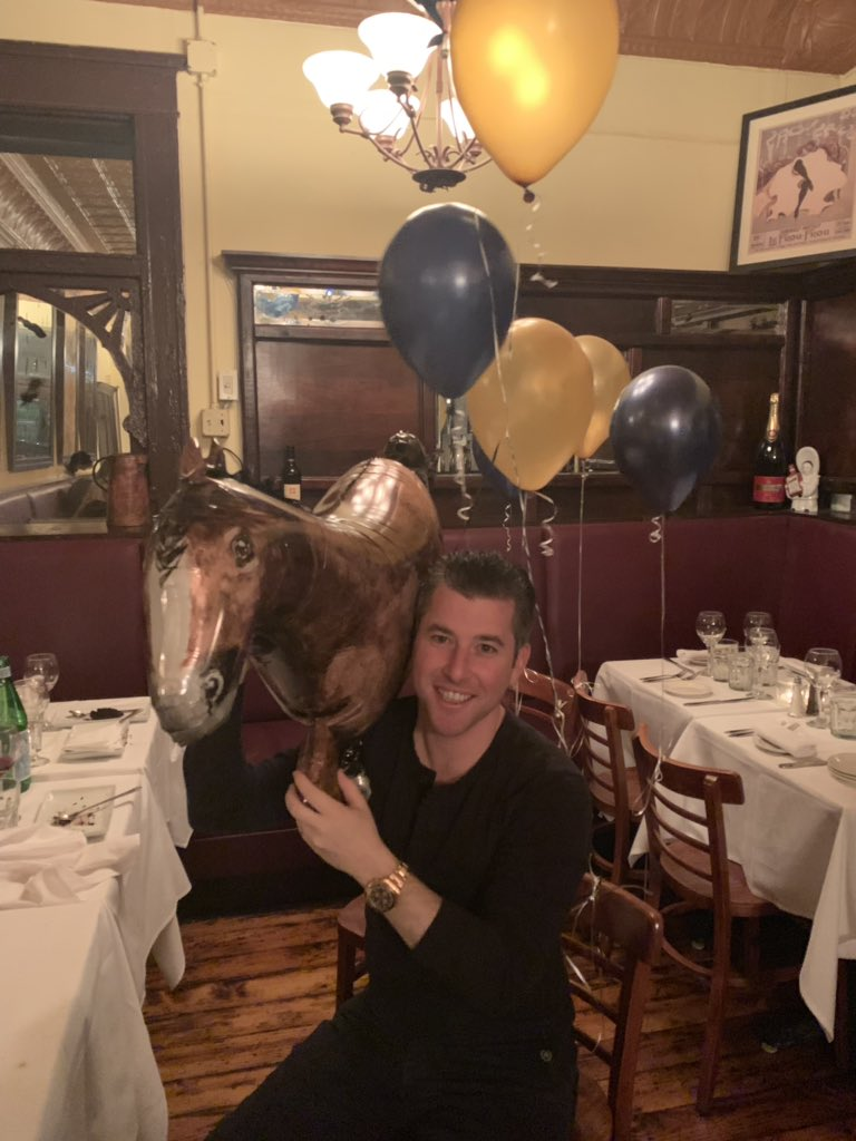 test Twitter Media - Lots of fun celebrating @BradWeisbord birthday last night. Thanks to everyone who came out and made it a great night. He's holding a balloon that represents one of our bad purchases (too many to name 😂) Now on to @keenelandsales Book 3 to sell 6 today. Come see us in barn 3! https://t.co/xuTPHhbqA5