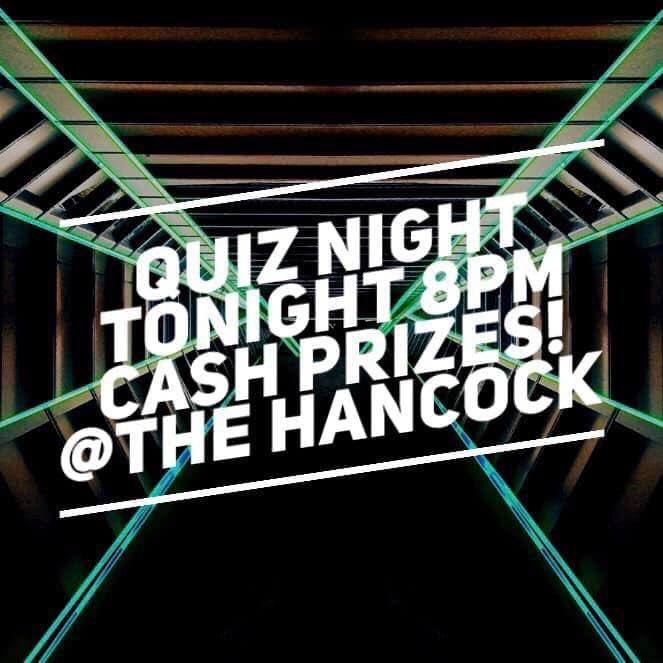 TONIGHT!!! Grab your team mates and head down to The Hancock tonight!! It's quiz night from 8pm!! Tag your perfect team mates below 👇🤓  #quiznight #hancockquiz #sundayquiz #newcastlequiz #pubquiz #freshers2019 #newcastlefreshers