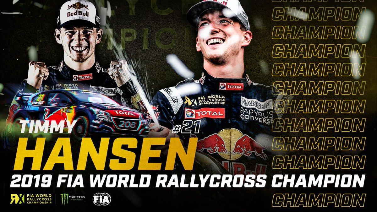 Congratulations @Timmy_Hansen !! World champion!! Go Sweden 🇸🇪🇸🇪