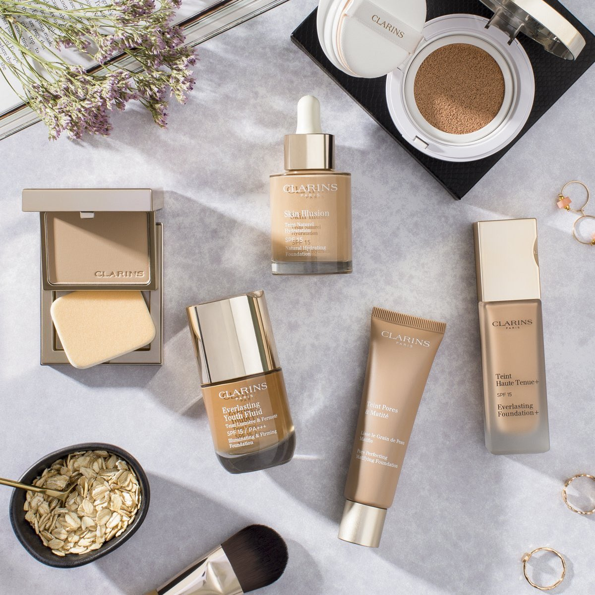 Flawless, filtered and au natural. Get to know our complexion must-haves:  http://ow.ly/RTce50wQpuF   #clarins  @LBBeautySpa  #tenterden