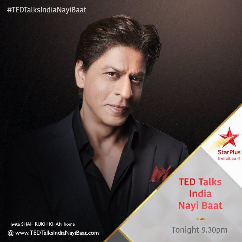 Don't miss #TEDTalksIndiaNayiBaat, Tonight at 9:30pm on @StarPlus , @hotstartweets, @TEDTalks, @NatGeoIndia and @StarWorldIndia.