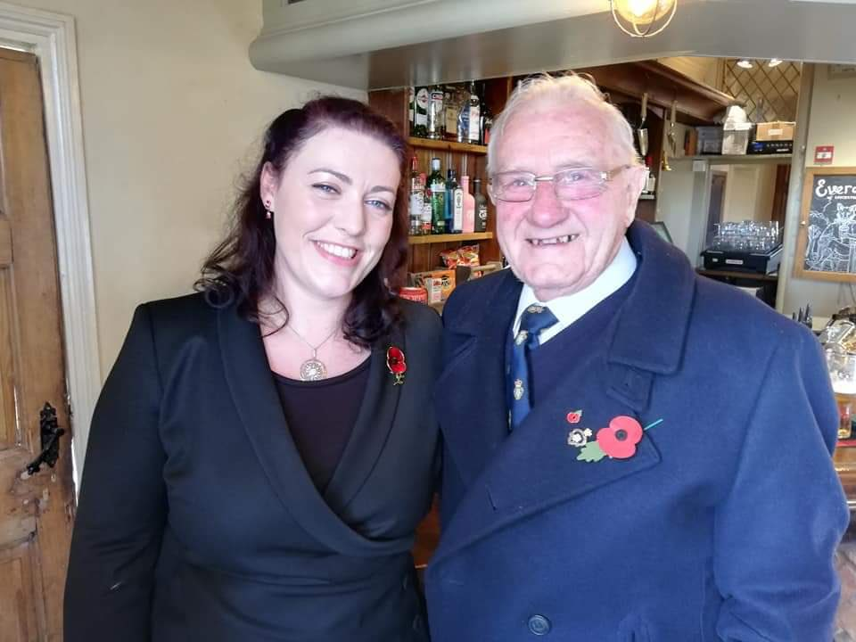Moving #RemembranceSunday Service in Gaddesby this morning. Thank you @Leigh_Higgins for the invitation and for carrying the @PoppyLegion Standard with such pride. A privilege to meet so many veterans who've served our country with honour.