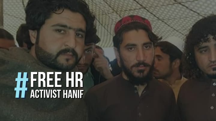 Hanif Pashteen has been jailed for fake cases in order to stop the Voice of PTM.  #FreeHRActivistHanif  #FreeHRActivistHanif <br>http://pic.twitter.com/uIAJ2QFLWu