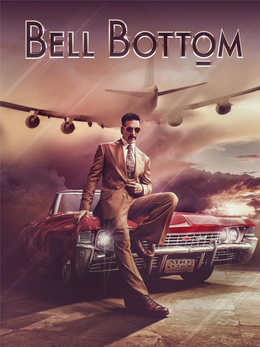 Very proud and honoured to be announcing the first look of our upcoming film #BellBottom, starring @akshaykumar directed by @ranjit_tiwari , produced by @poojafilms in association with @EmmayEntertain Releasing in cinemas on 22nd January 2021 !!