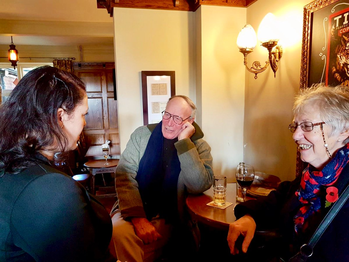 A privilege to meet so many veterans today and share a drink with them in the Cheney Arms in Gaddesby as well as meeting members of the local Conservative Party David, Judy and Peter.