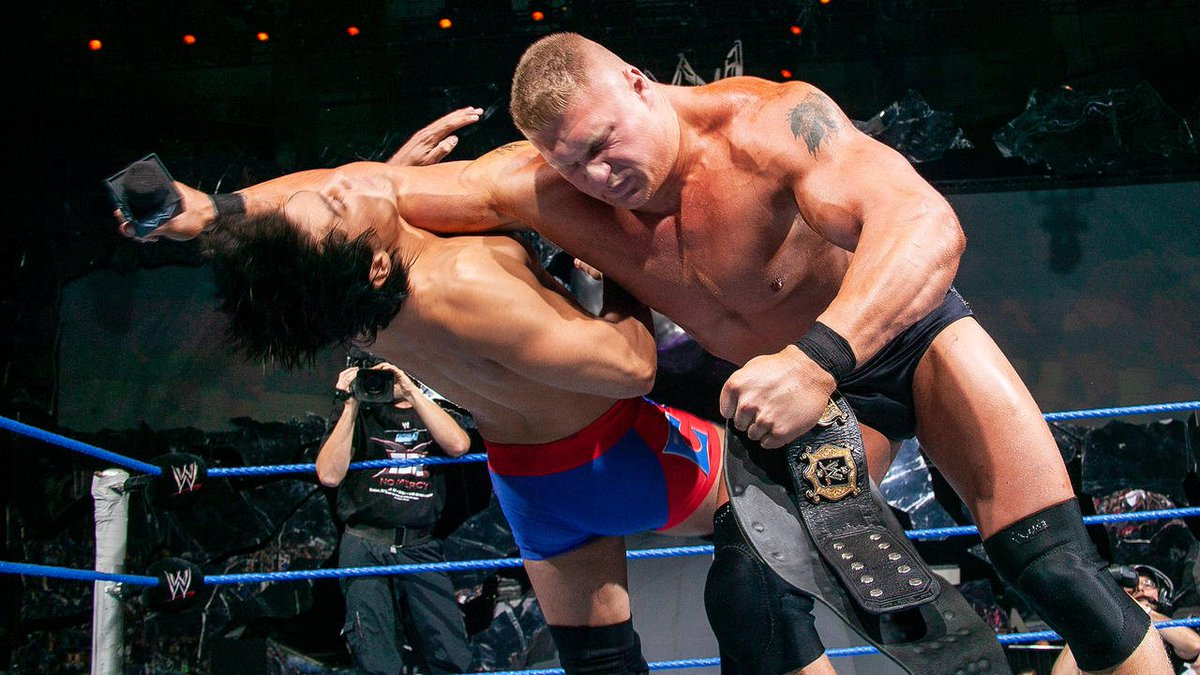 .@BrockLesnar sure does love to DESTROY smaller opponents! (Often times @HeymanHustle watches with glee) Heres the #Top10 moments of pure chaos courtesy of the Beast!