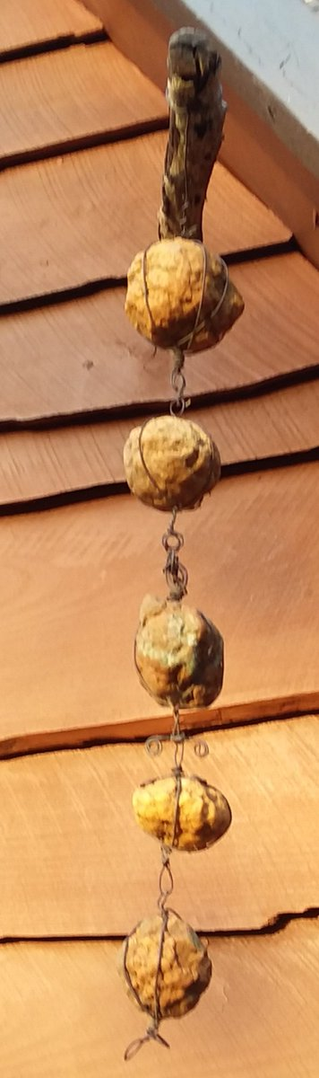 This is my silent wind chime made from local geodes. Tiny historical rocks that hold secrets.