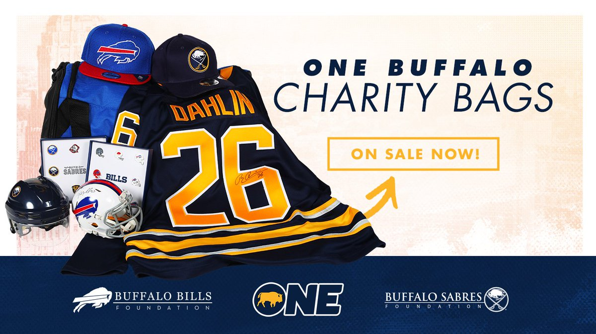 One Buffalo Charity Bags are on sale! Get autographed jerseys, exclusive team gear and more: onebuffalocharitybags.com
