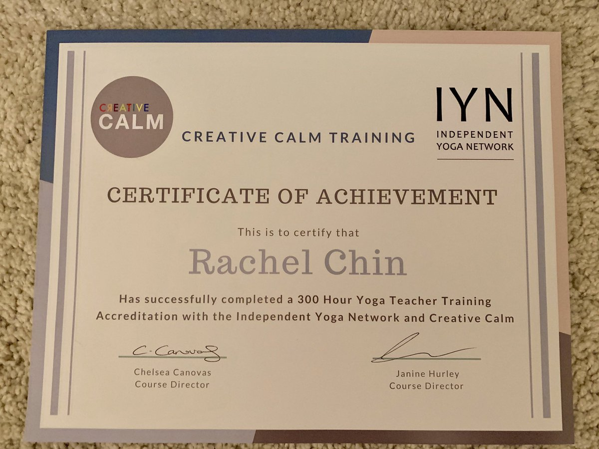 Today I qualified as a yoga teacher 😊I've done 300 Hours of Trauma Informed Yoga Teacher Training over 14 months. I'm so grateful for this opportunity and can't wait to continue to share yoga with others #yoga #teacher #hathayoga #yinyoga #mentalhealth #trauma #body #breath https://t.co/NDQInwVqrG