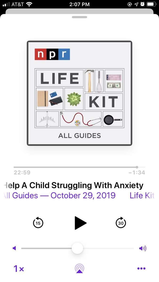 Just finished listening to @NPRLifeKit's episode on how to help a child with anxiety. This episode will be helpful not only for the parents with kids with anxiety but also for friends and partners of those with the same issue. I hope many people listen to it. It's so helpful.