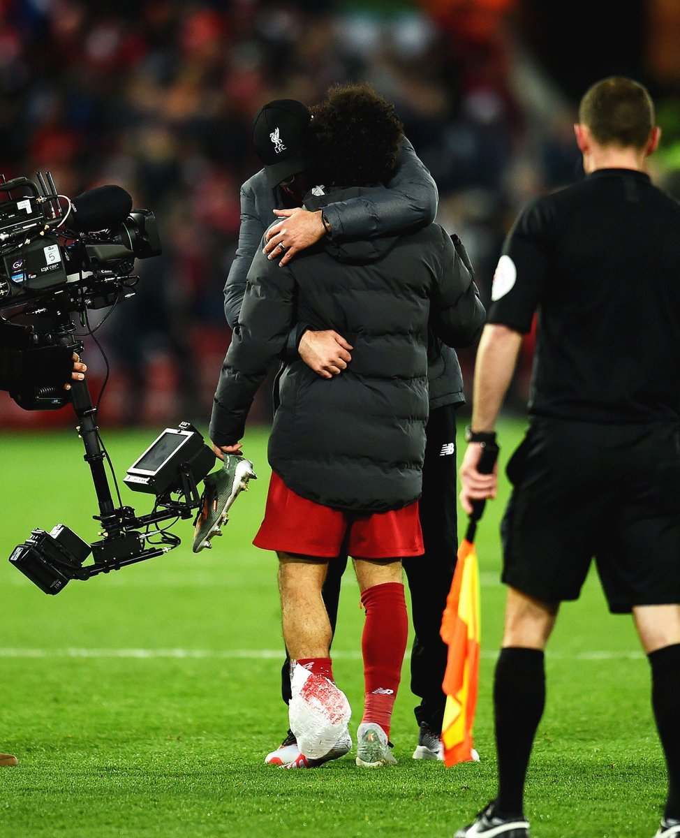 Shoutout to Mohamed Salah for his goal and played on for 87 mins, despite on a receiving end of a strong tackle off Fernandinho. He's been carrying this ankle injury since Leicester and not been 100% fit, deserves more respect for still putting his all for our club. 🇪🇬👑 https://t.co/gNNpsKTykT