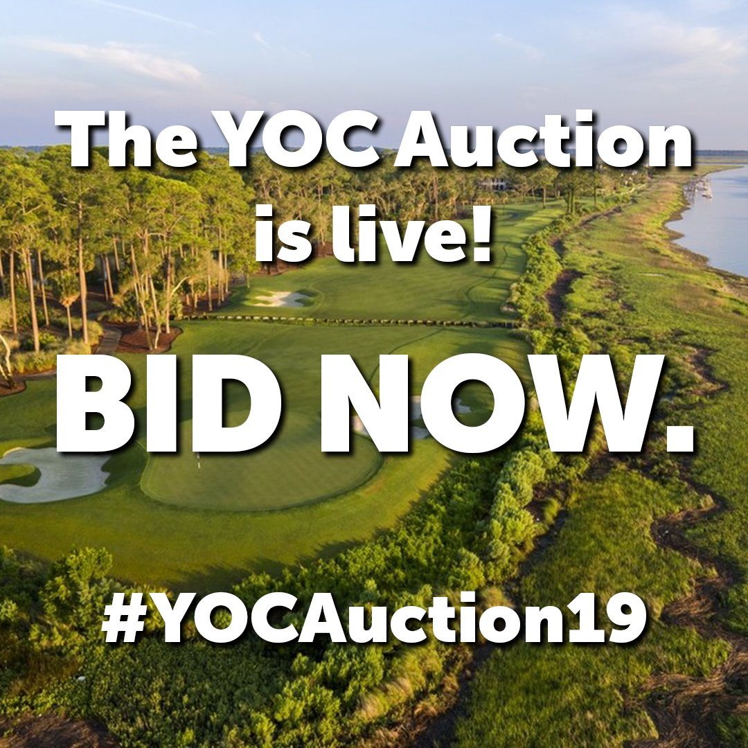 Help us and our friends @yocgolf by bidding on unique experiences in the #YOCAuction19, which closes tomorrow night, with all of the proceeds benefitting the mission of providing today's youth with life-changing opportunities through golf.
