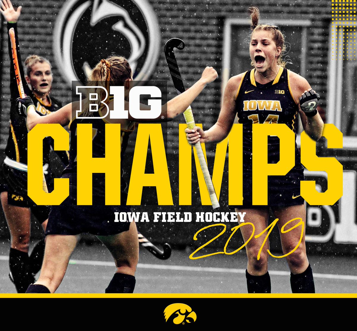 B1G CHAMPS!! LETS GO!! Iowa wastes no time in overtime and beats Penn State, 1-0! #Hawkeyes | #FightForIowa