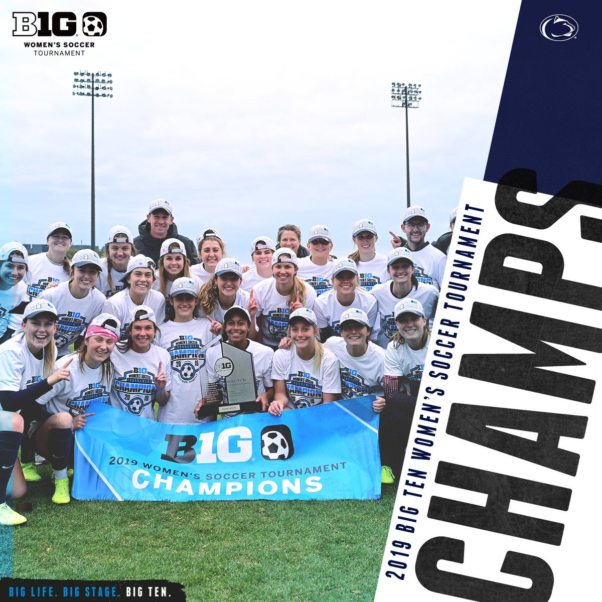 Congratulations to the 2019 #B1GWSOC Tournament champion, @PennStateWSOC … for more on this years tournament, including box scores, recaps, photos and the official tournament program, visit the Tournament Central web site at bigten.org/wsoc
