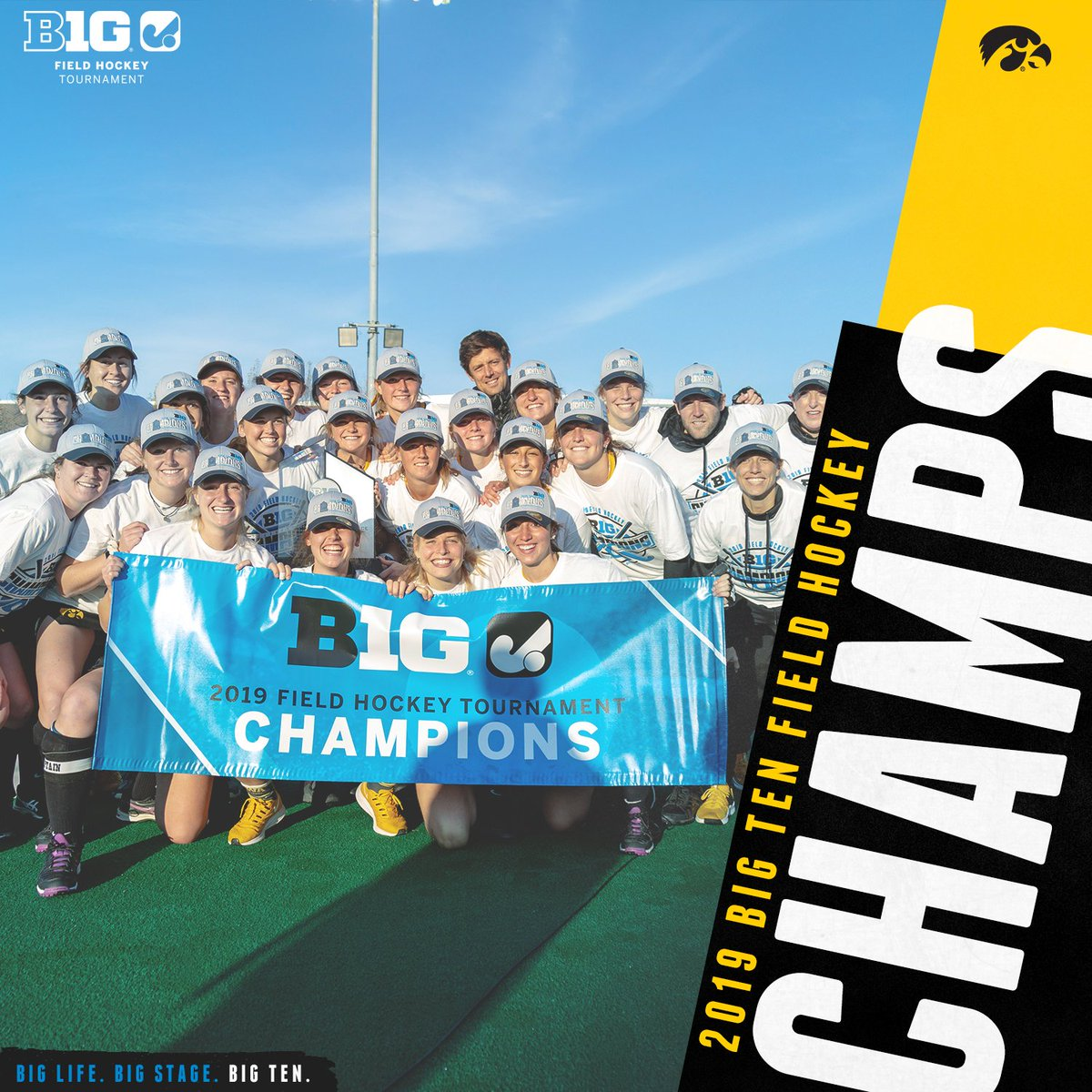 The #Hawkeyes are your 2019 Big Ten Field Hockey Tournament Champions! Iowa scored 26 seconds into OT to claim the programs 6th tournament title. #B1GFH