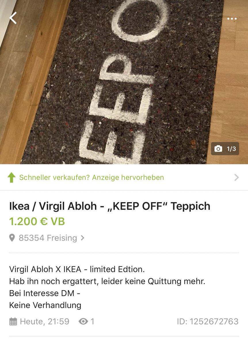Off white ikea teppich