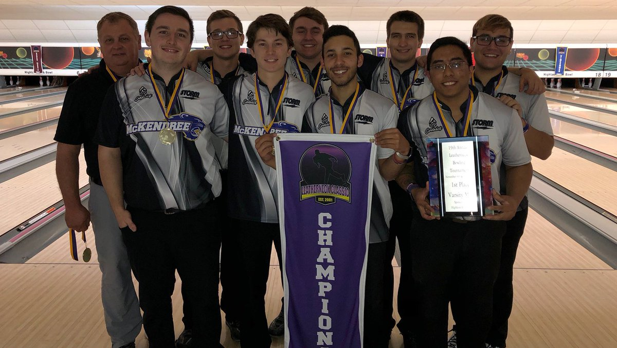 Congratulations to the @McKBowling for winning the men's bracket at the 2019 Leatherneck Classic!  Look for a full recap from the Leatherneck Classic later tonight!  #CollegiateBowling #AFutureForTheSport