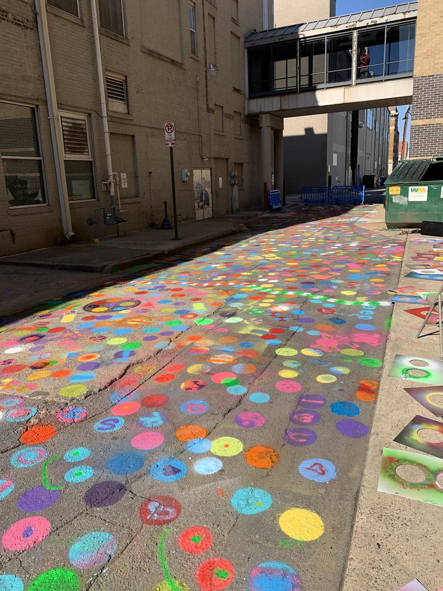 24 hours after the Paint party in Baker's Alley, a student and her family drove in from out of town to take her senior pictures there. That's the power of public art and placemaking.