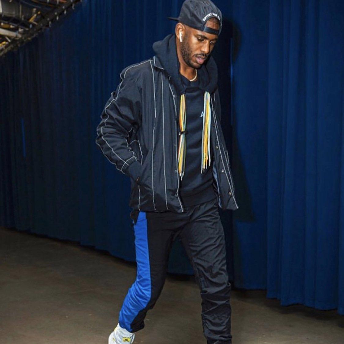 Chris Paul before Thunder-Warriors  $565 // Ambush mutli-cord hoodie