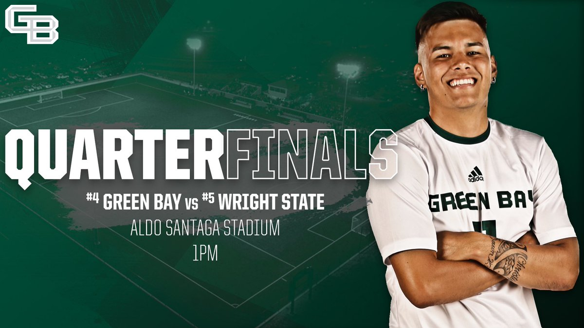 The #HLMSOC Tournament kicks off tomorrow afternoon at Aldo Santaga Stadium!Come support the squad in the quarterfinals! 👏🆚 #5 Wright State🏟 Aldo Santaga Stadium🕐 1PM🆓 T-shirt to first 125 fans🖥 ESPN+#GreenBayAllDay