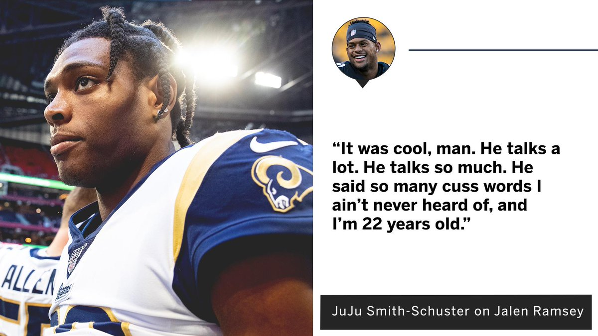 JuJu explained what its like to play against Jalen Ramsey 😆
