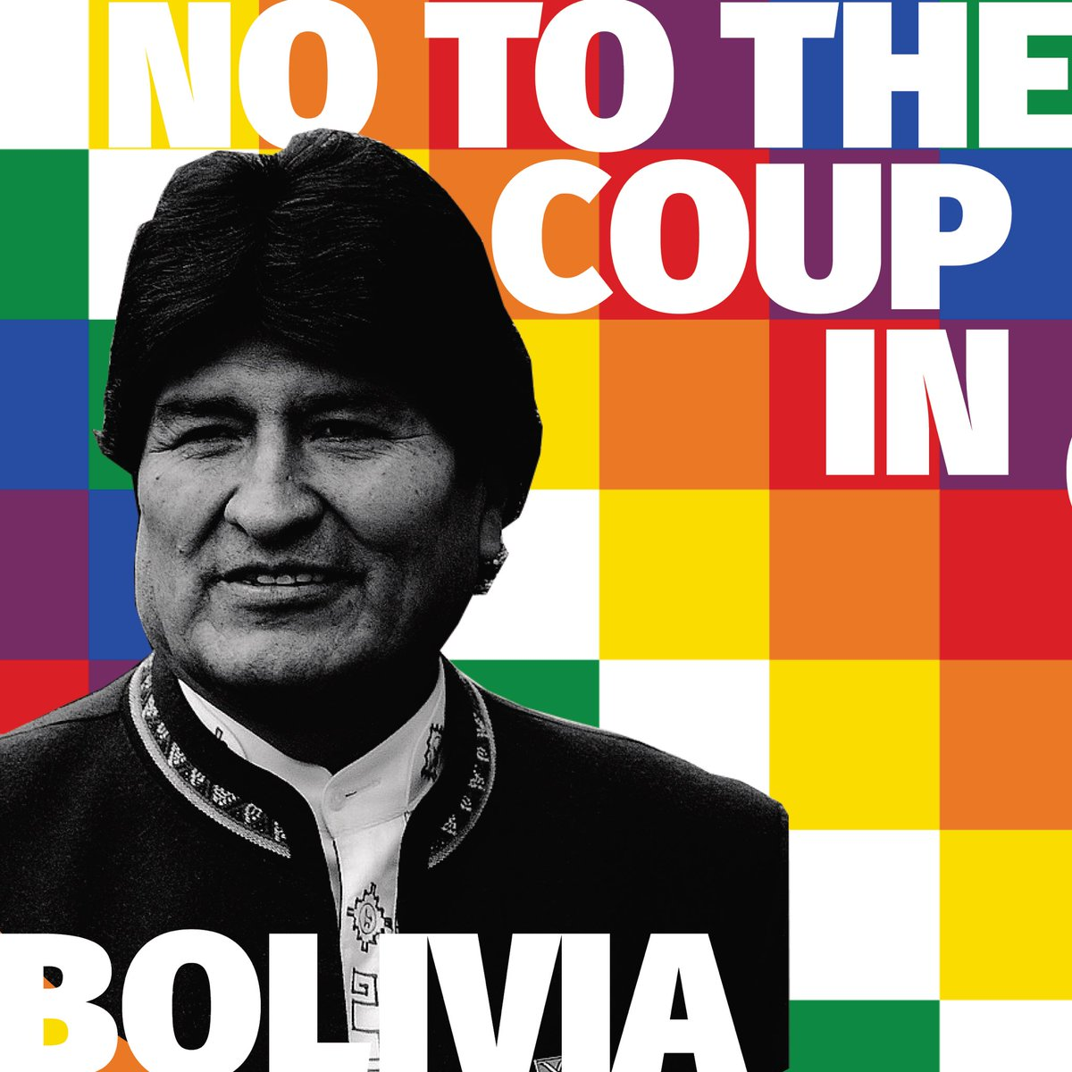 NO to the coup in #Bolivia. Protect the lives of leftist activists. #ElMundoConEvo <br>http://pic.twitter.com/bjO6F9LmSq