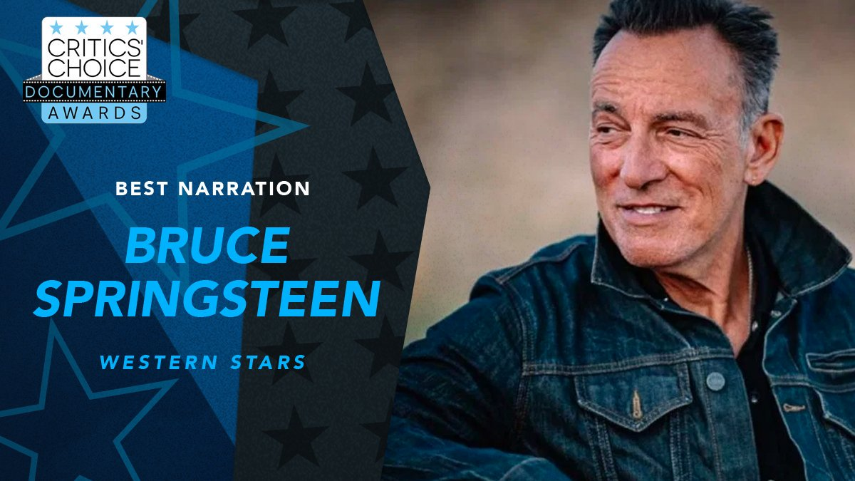 The Boss, @springsteen, takes home the #CriticsChoice Documentary Award for Best Narration in #WesternStarsMovie