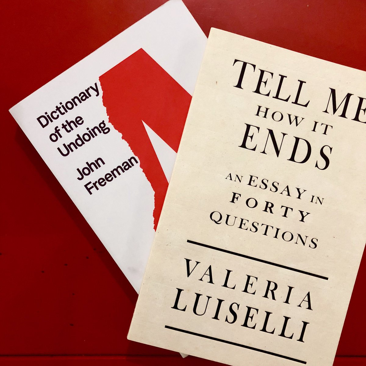 """Coming up Tuesday I'll be @mcnallyjackson in nyc at 7 pm with @ValeriaLuiselli talking over what's happening to language in these infernal times & """"Dictionary of the Undoing,"""" which is out that day from @mcdbooks"""