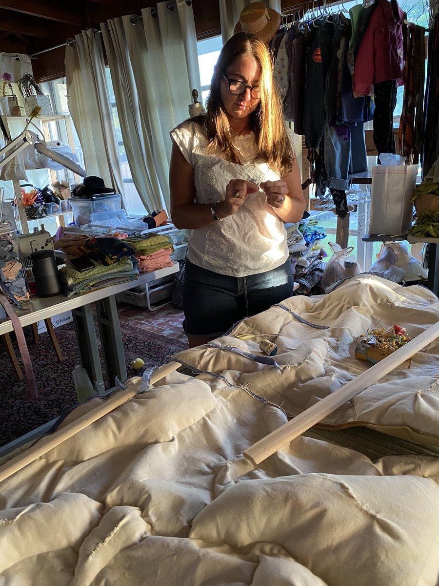 Sundazed... #balance #artistmom  #studiolight #handsewing #logistics #textileart #contemporarytextiles #softsculpture #wallart #alissaalfonsopic.twitter.com/wf4ywBdGgv