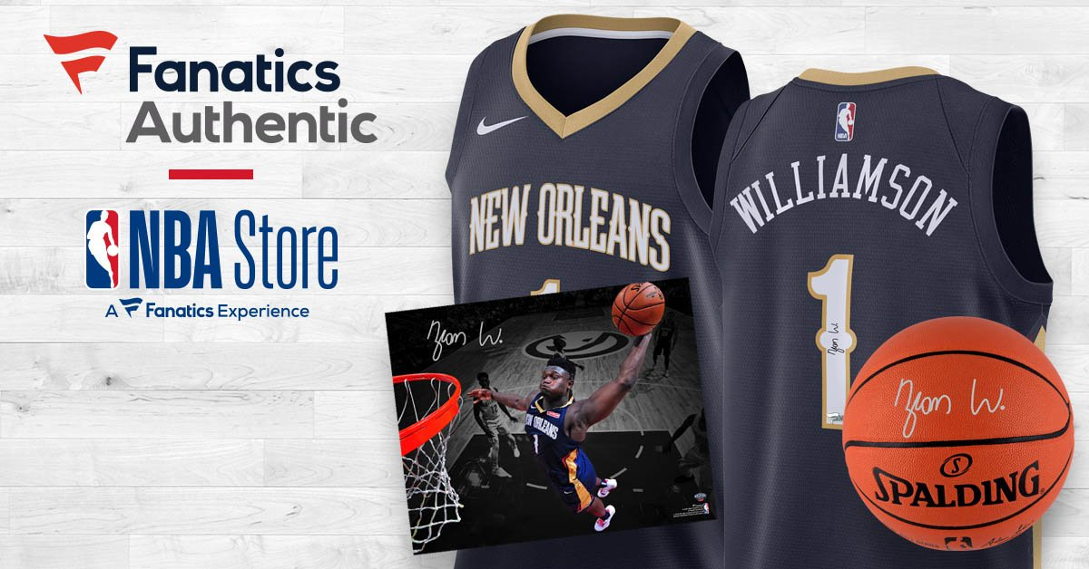 👀Tip-off the week with 🆕 @Zionwilliamson x @PelicansNBA autographed collectibles!  Now available http://on.nba.com/2NX59I5