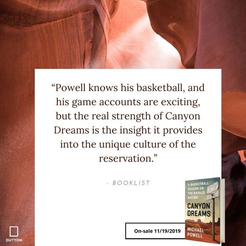 "Coming on Nov. 19th. ""Canyon Dreams: A Basketball Season on the Navajo Nation"""