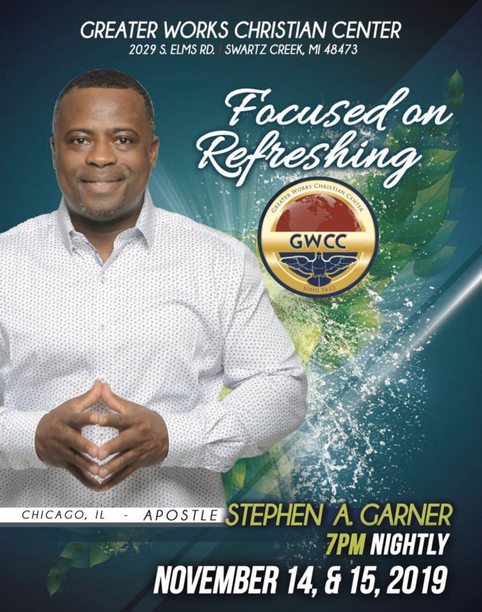 We are excited to welcome back Apostle Garner to @GreaterWorks_ We Look forward to see you there https://t.co/0Jmvm4KY6o