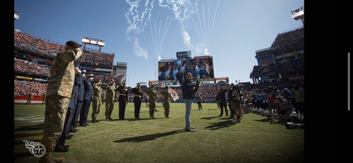Today's Tennessee @Titans #SaluteToService at @nissanstadium was incredible! Thank you to all of our veterans.