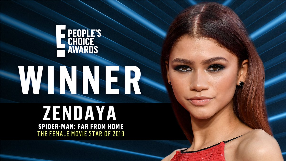 .@Zendaya-stans, you did it! Send some love for #TheFemaleMovieStar of 2019! #PCAs