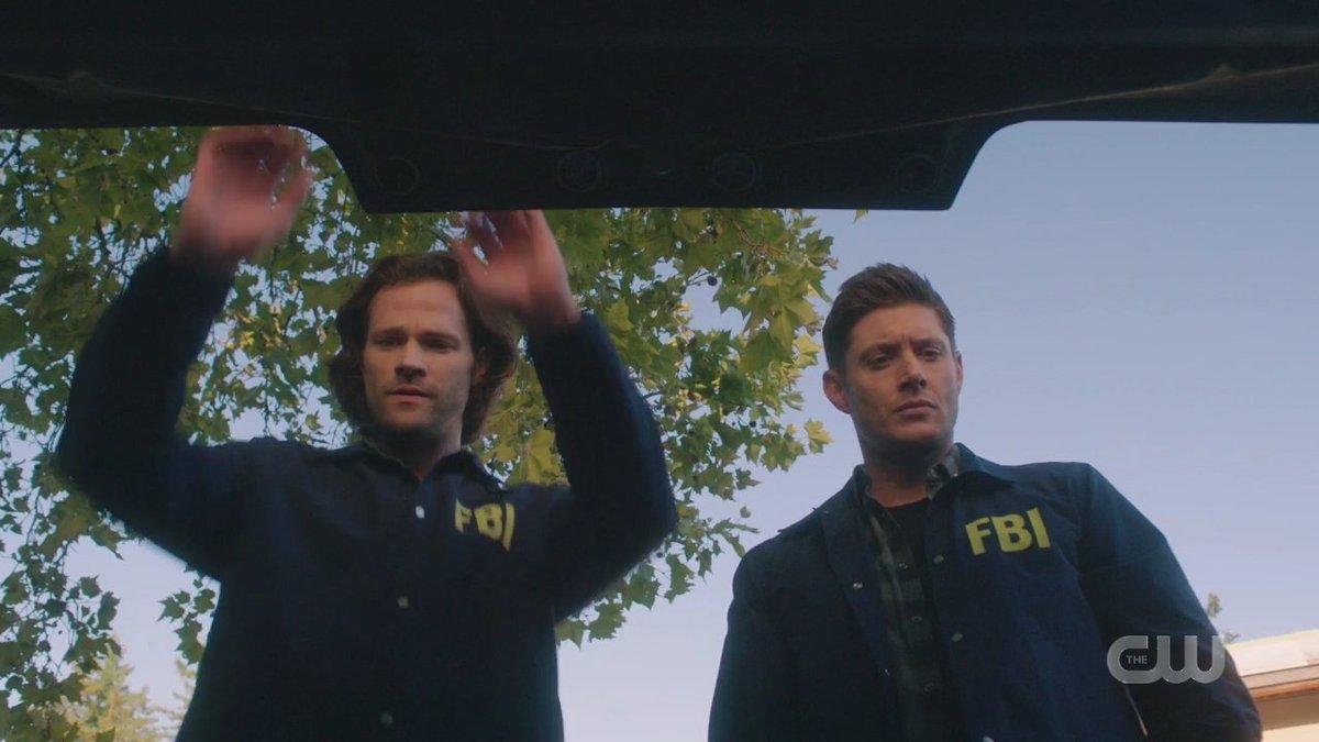 Você sabe o que isso significa Temos trabalho a fazer Eu não chorei não tá? #Supernatural #supernatural15 #15x01