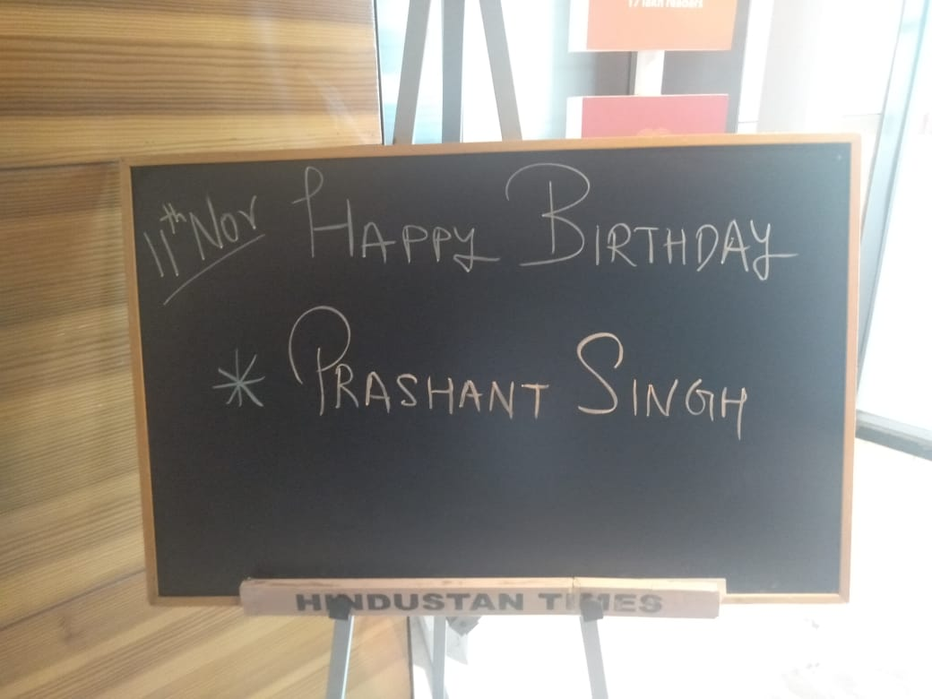 Come what may, my office blackboard -- without fail -- reminds me every year that I have spent another year in the organisation, and that I am a year older (or younger). 😀😄🙏🙏 But thanks @htTweets!!