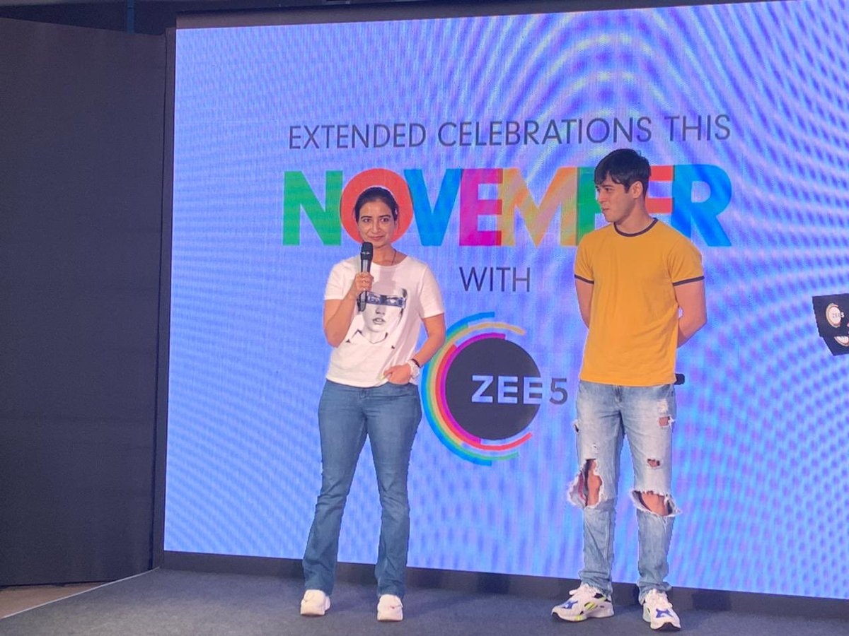 At @ZEE5Premium's extended celebrations along with the cast of #LoveSleepRepeat. Series streaming now on @ZEE5India.  @tarunkatial