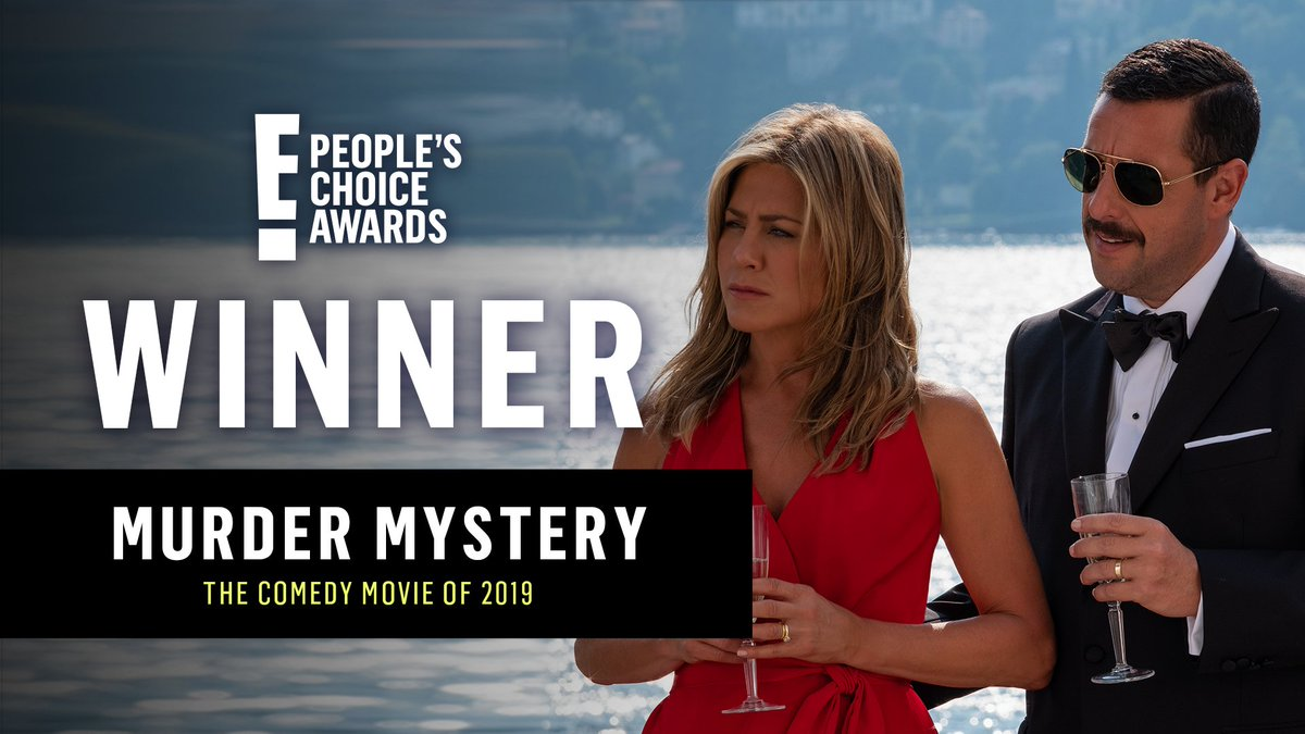 You guys are REALLY into big boats, billionaires, and murder... Your choice for #TheComedyMovie is #MurderMystery! #PCAs<br>http://pic.twitter.com/Ja4WTIii9D