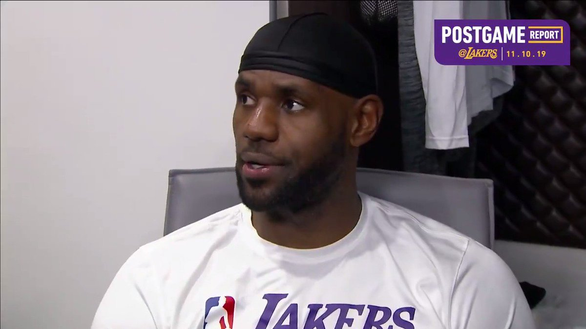 🎥 LeBron James discusses finding ways to get better and learning from tonight's loss.