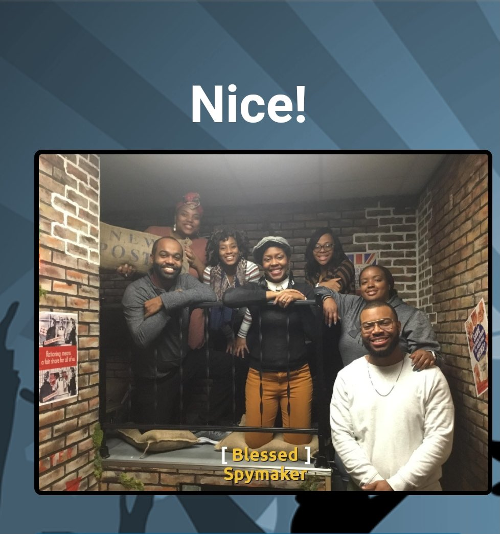 @GreaterWorks_  Young Adults at the escape room @YaboyLV https://t.co/4kp87eAWXO