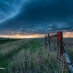 Image for the Tweet beginning: #weatherpicofday a distant lightning bolt