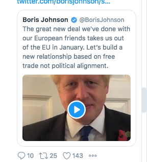 Quick fact check on Boris Johnsons latest Twitter video. Claim: UK will take back control of our money, our borders, our laws as soon as we come out of the EU. Reality: UK remains in 11-month transition, paying into EU budget, following EU law, inc free movement ppl.