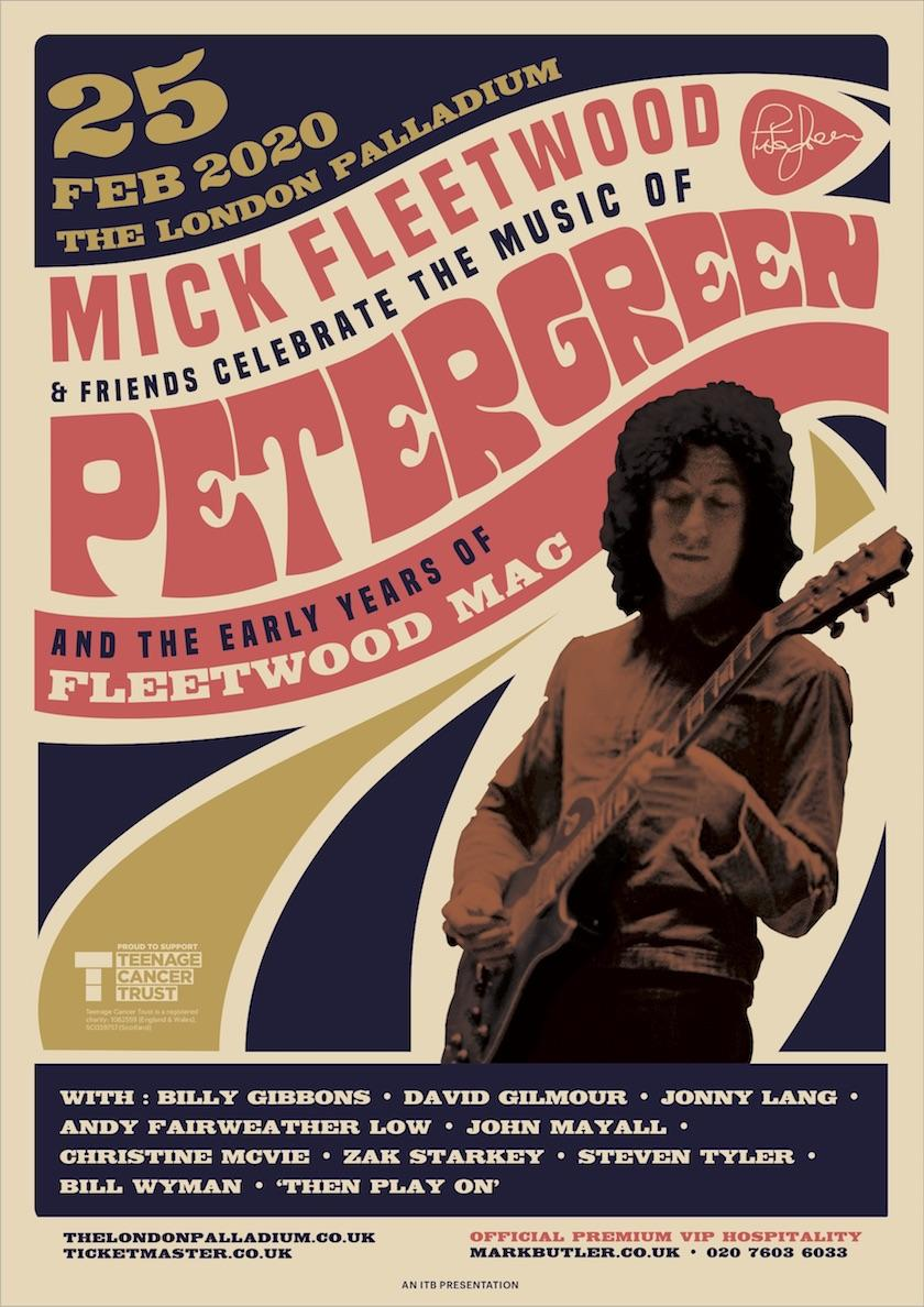 I'm excited to announce a one-of-a-kind concert honouring the early years of Fleetwood Mac and its founder, Peter Green!  🎸 Visit my website for tickets, merch, and more information.